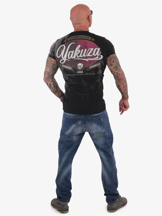 Yakuza T-skjorter Skull Dust svart