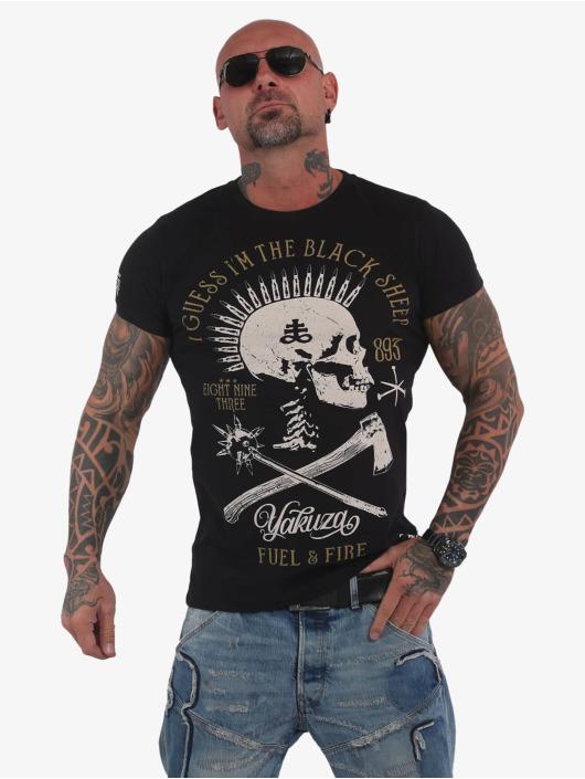 Yakuza T-skjorter Black Sheep svart