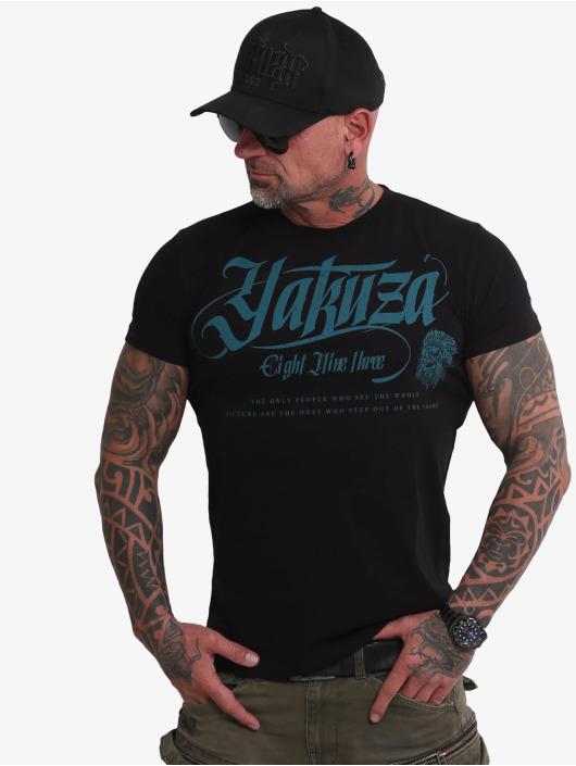 Yakuza T-skjorter Indian Skull svart