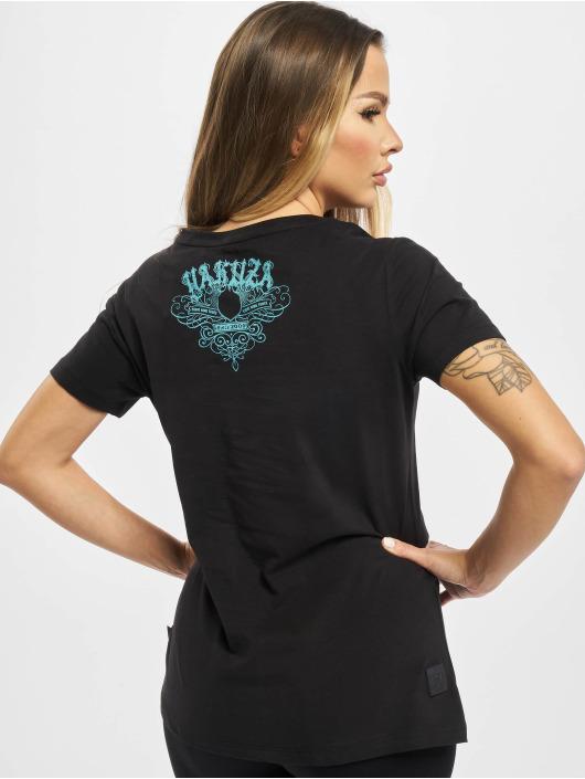 Yakuza T-skjorter Massive V Neck svart