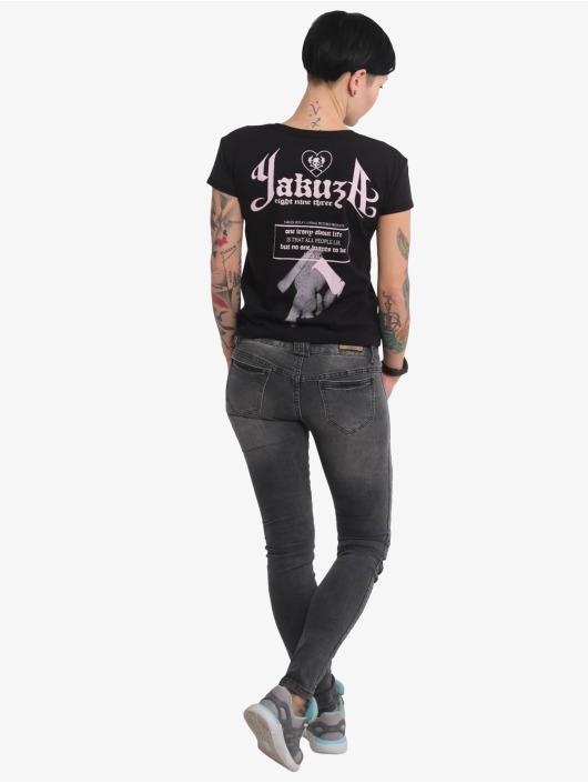 Yakuza T-skjorter Double Cross Box Fit svart