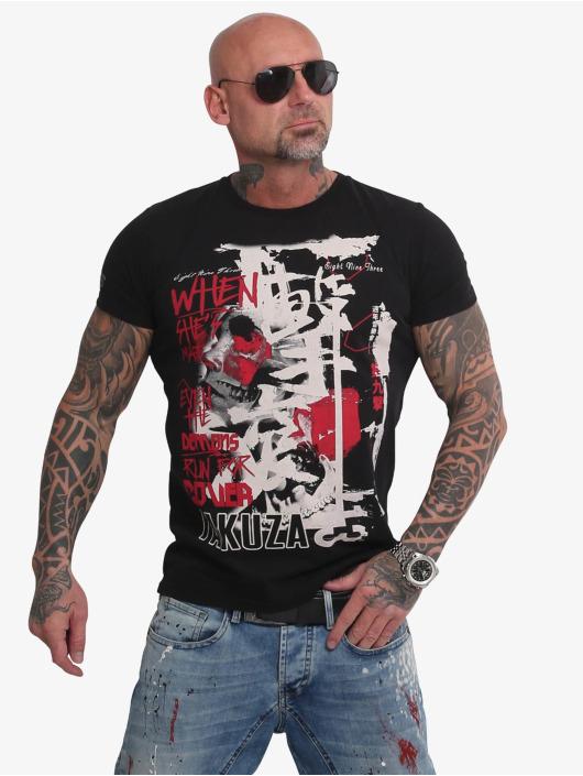 Yakuza T-skjorter Run For Cover svart