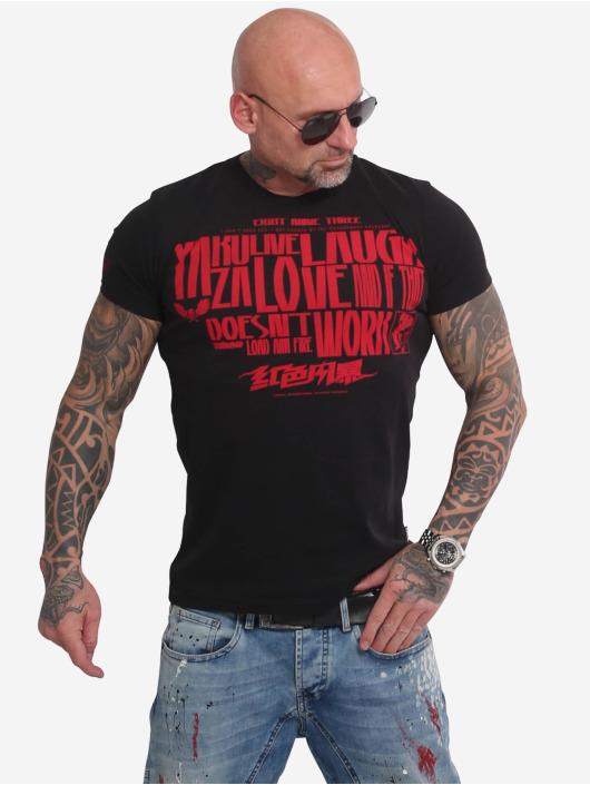 Yakuza T-skjorter Live Laugh Love svart