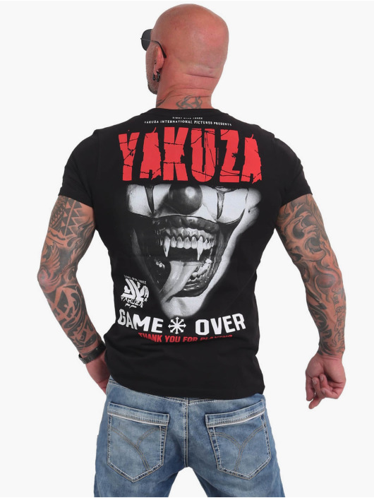 Yakuza T-skjorter Game Over svart
