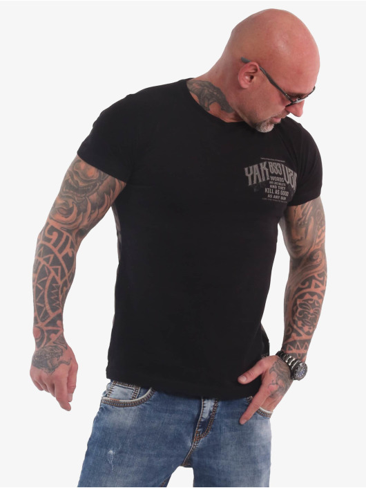 Yakuza T-skjorter Words Like Bullets svart