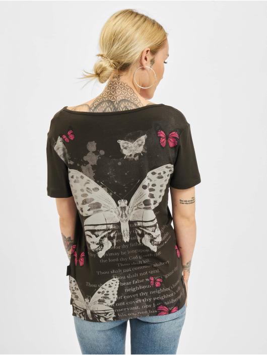 Yakuza T-skjorter Butterfly Meadow Crew svart