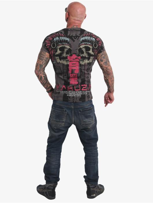 Yakuza T-skjorter Sick Nippon V02 svart