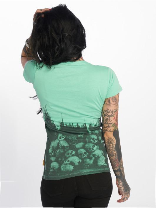 Yakuza T-skjorter Warrior V-Neck turkis