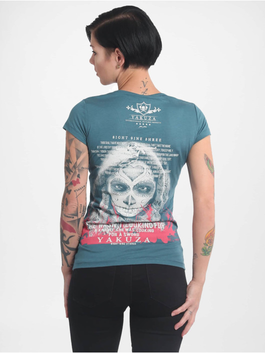 Yakuza T-skjorter Looking For V02 V Neck turkis