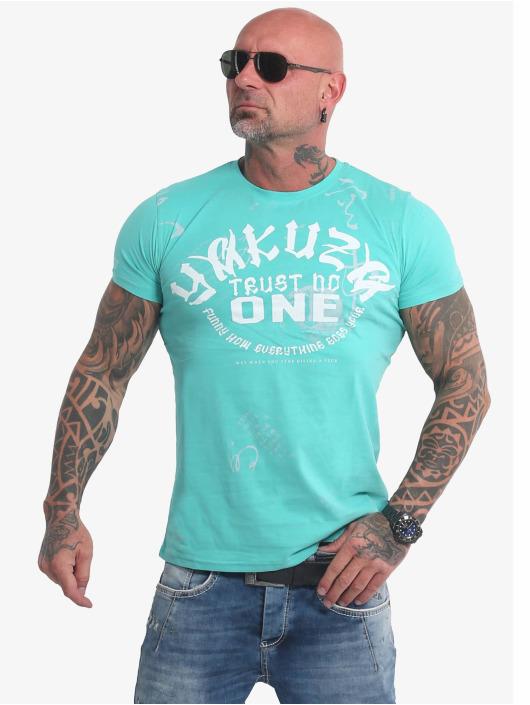 Yakuza T-skjorter Trust No One turkis