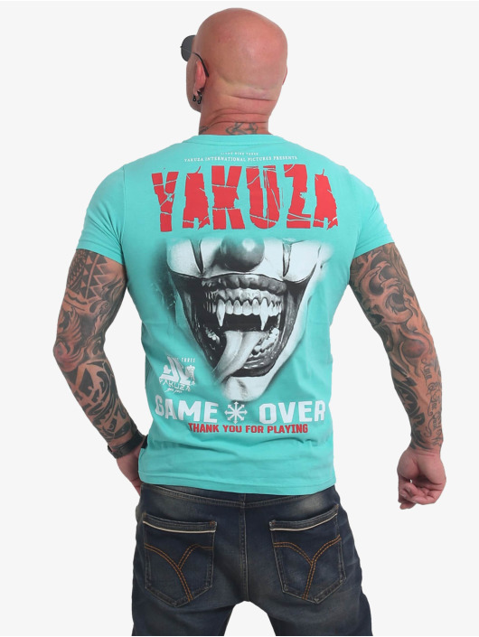 Yakuza T-skjorter Game Over turkis