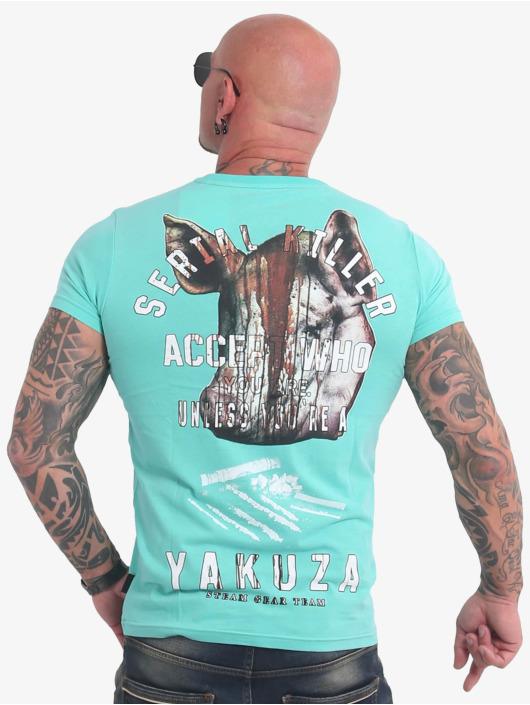 Yakuza T-skjorter Swine turkis