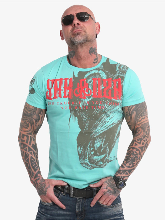 Yakuza T-skjorter Dragon turkis