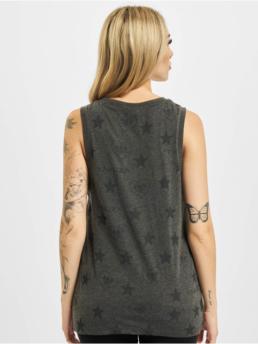Yakuza Tank Tops Allover Star èierna