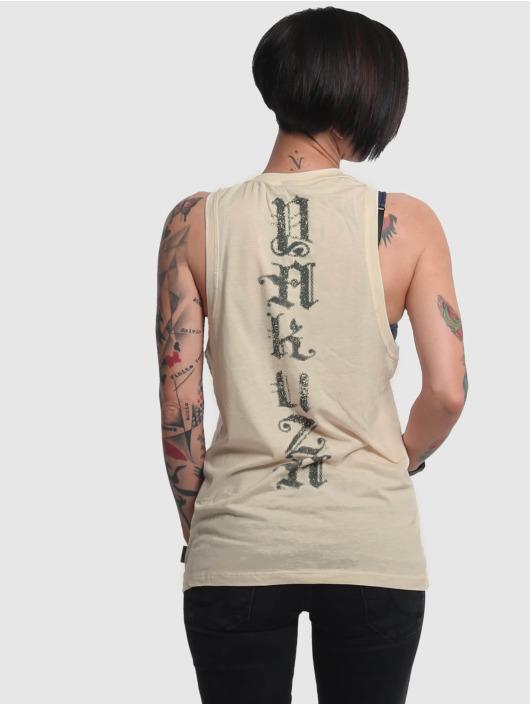 Yakuza Tank Tops B.I.T.C.H. béžová