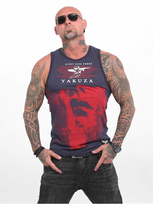 Yakuza Tank Tops Armed Angel blå