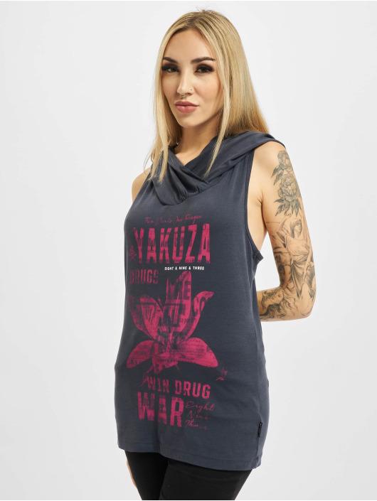 Yakuza Tank Tops Drug War Hooded blau