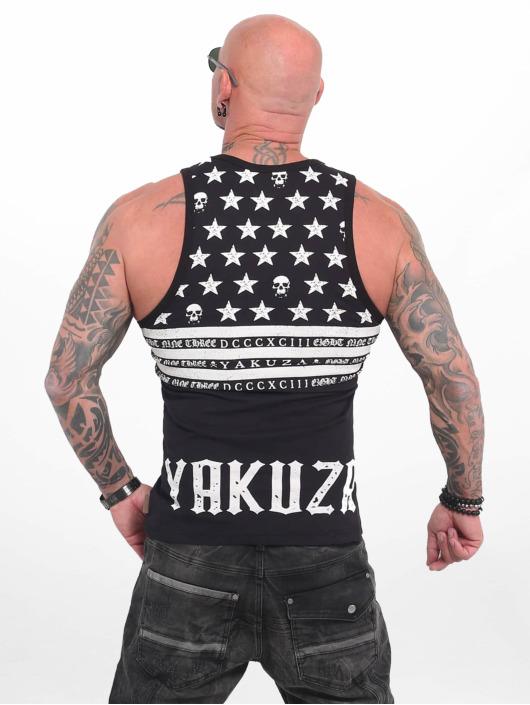 Yakuza Tank Tops Skulls N Stripes czarny