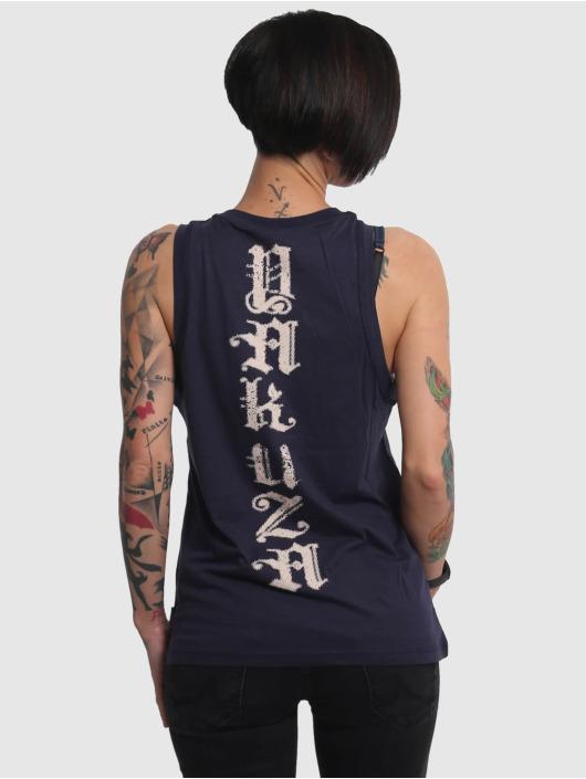 Yakuza Tank Tops B.I.T.C.H. modrý