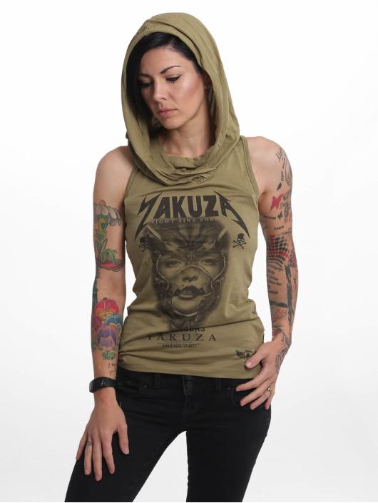 Yakuza Tank Tops No Me Jodas olivová