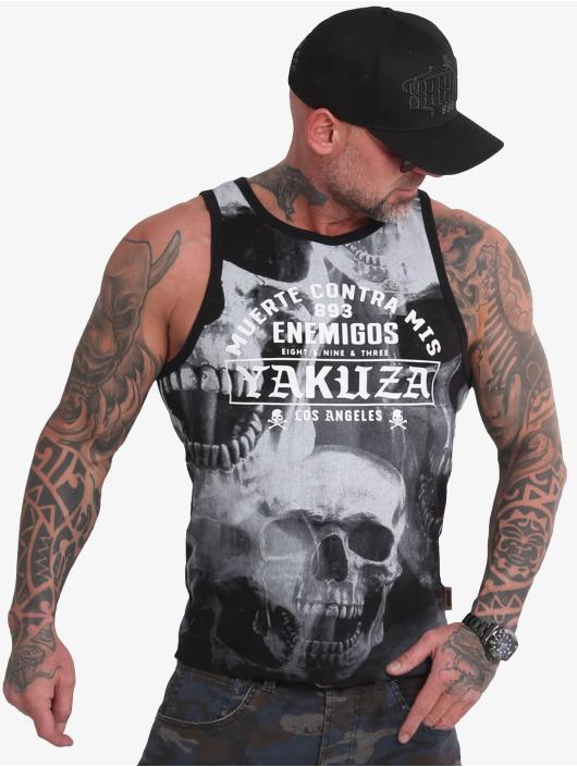 Yakuza Tank Tops Muerte Skull svart