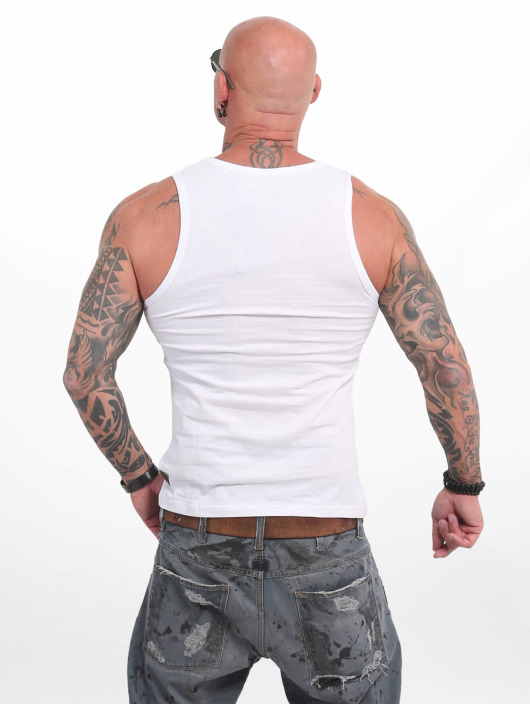 Yakuza Tank Tops Dead Punk white