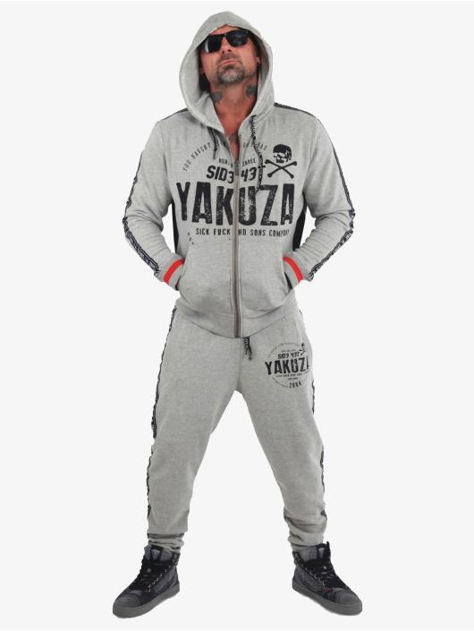 Yakuza tepláky Bad Side šedá
