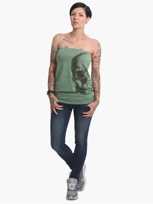 Yakuza Top Dropping Skull Bandeau green