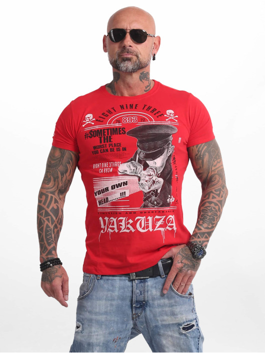 Yakuza Tričká Own Head èervená