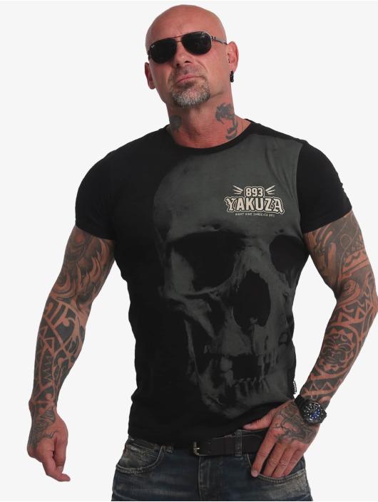 Yakuza Tričká Cuernos De Chivo Skull èierna