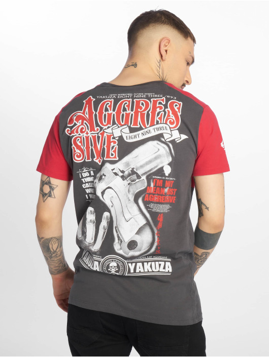 Yakuza Tričká Aggressive Two Face šedá