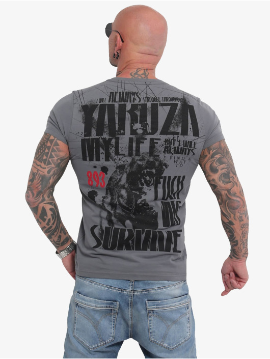 Yakuza Tričká My Life šedá