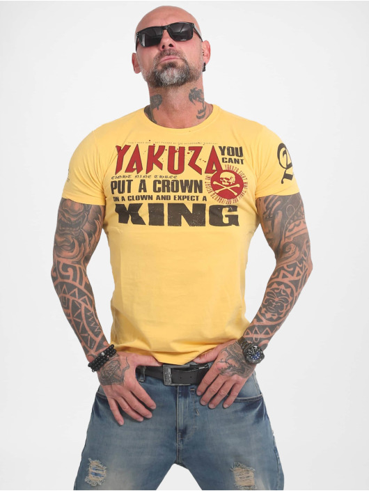 Yakuza Tričká Dead Punk žltá