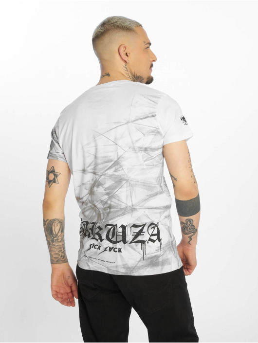 Yakuza Tričká Cyber Death biela