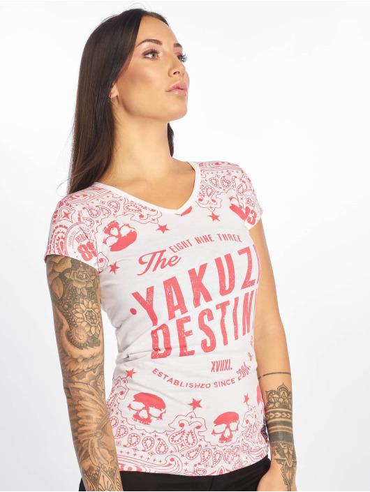 Yakuza Tričká Tijuana V-Neck biela