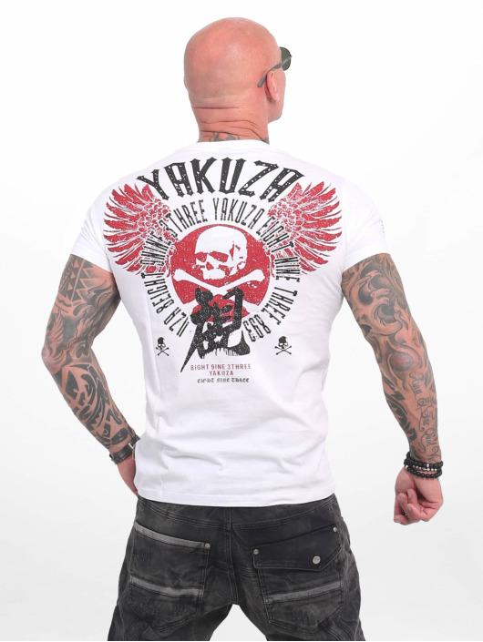 Yakuza Tričká Nippon Skull biela