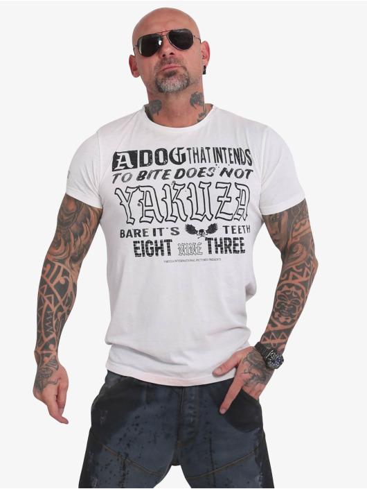 Yakuza Tričká Dog Burnout biela