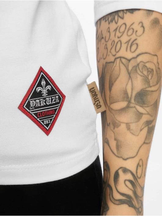 Yakuza Tričká dlhý rukáv Flying Skull Off Shoulder biela