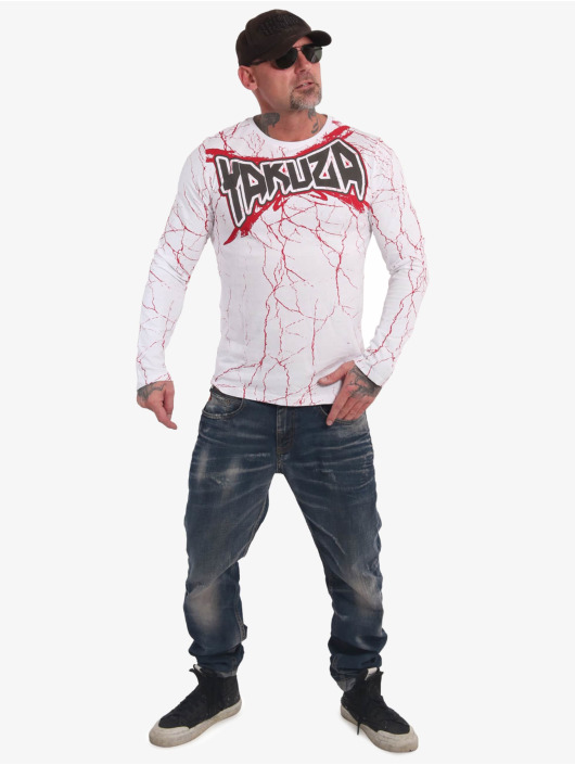 Yakuza Tričká dlhý rukáv Toxin biela