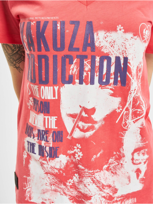 Yakuza Tričká Addiction V Neck pink