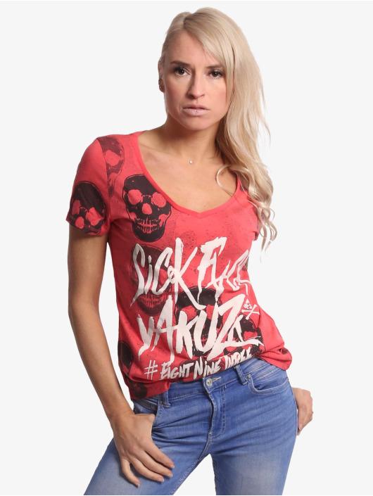Yakuza Tričká Overdosed Dye V-Neck pink
