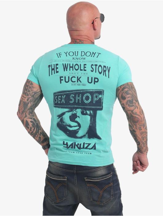 Yakuza Tričká XXX Shop tyrkysová