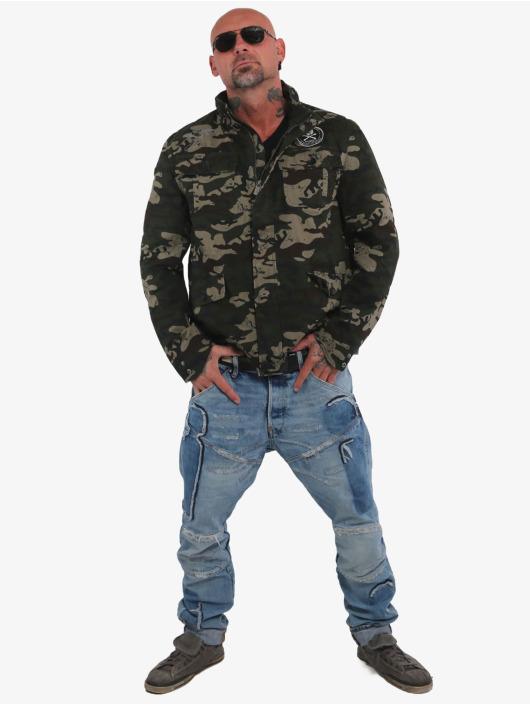 Yakuza Übergangsjacke Skull N Wings Military camouflage