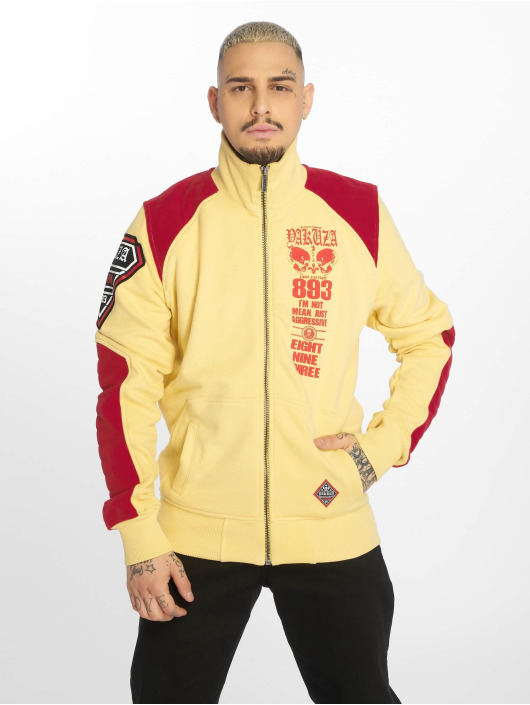 Yakuza Übergangsjacke Lily Skull Two Face Training gelb