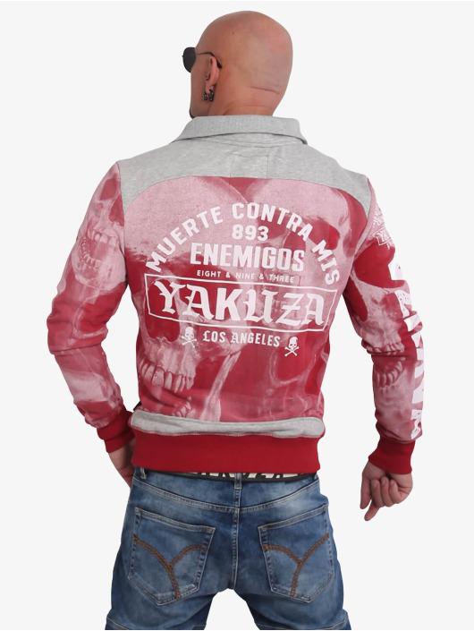 Yakuza Übergangsjacke Muerte Skull rot