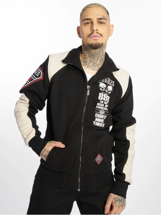 Yakuza Übergangsjacke Lily Skull Two Face Training schwarz