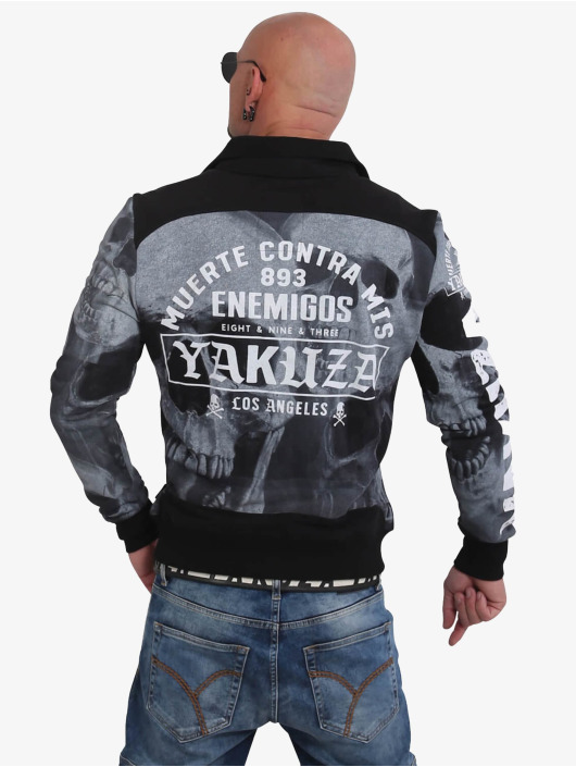 Yakuza Übergangsjacke Muerte Skull schwarz