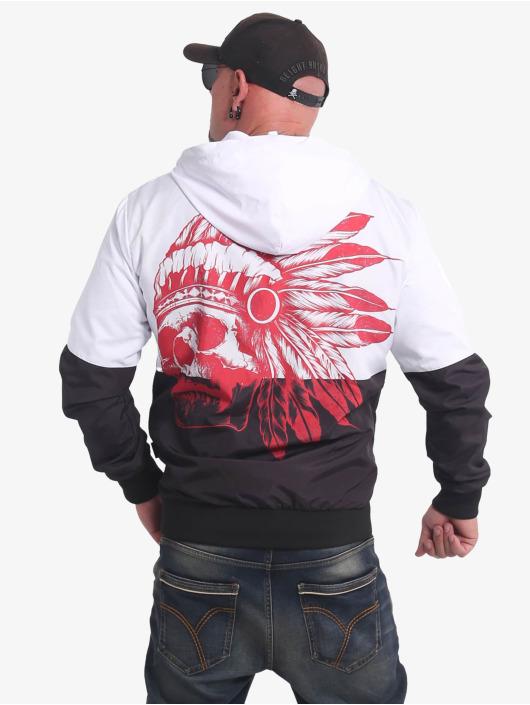 Yakuza Übergangsjacke Indian Skull schwarz