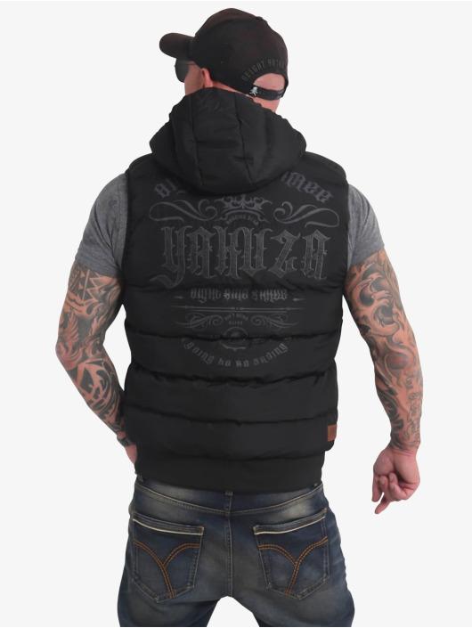Yakuza Vest Felt Logo Quilted black