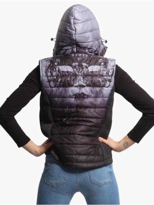 Yakuza Vest Masked Queen Hooded black